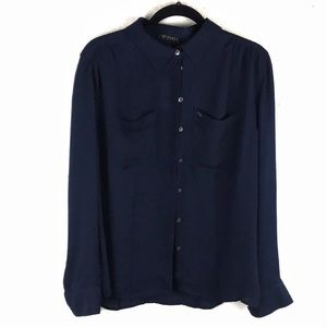 GUESS NWT Navy Blouse